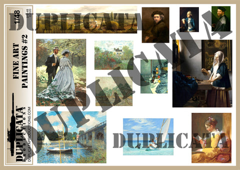 Fine Art Paintings #2 - 1/48 Scale - Duplicata Productions
