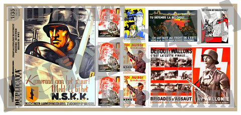 Occupied Belgium - WW2 Propaganda/Recruitment Posters - 1/35 Scale - Duplicata Productions