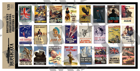 British WW2 Propaganda Posters #2 - 1/35 Scale - Duplicata Productions