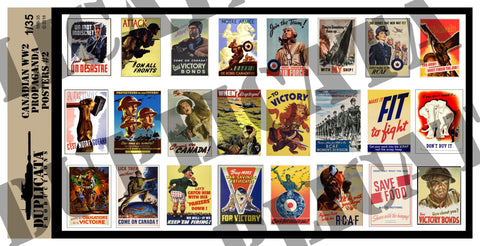 Canadian WW2 Propaganda Posters #2 - 1/35 Scale - Duplicata Productions