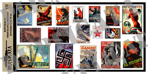 Republican Propaganda Posters - Spanish Civil War - 1/35 Scale - Duplicata Productions