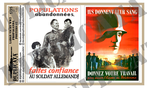 Vichy France WW2 Propaganda Posters, Large #2- 1/35 Scale - Duplicata Productions