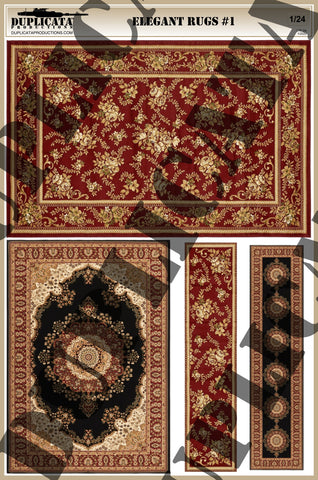 Elegant Rugs #1 - 1/24 Scale - Duplicata Productions