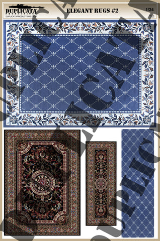 Elegant Rugs #2 - 1/24 Scale - Duplicata Productions
