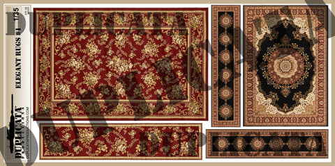 Elegant Rugs #1 - 1/35 Scale - Duplicata Productions