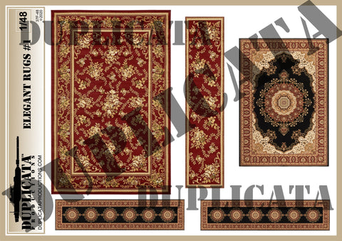 Elegant Rugs #1 - 1/48 Scale - Duplicata Productions
