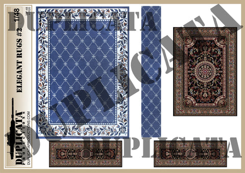 Elegant Rugs #2 - 1/48 Scale - Duplicata Productions