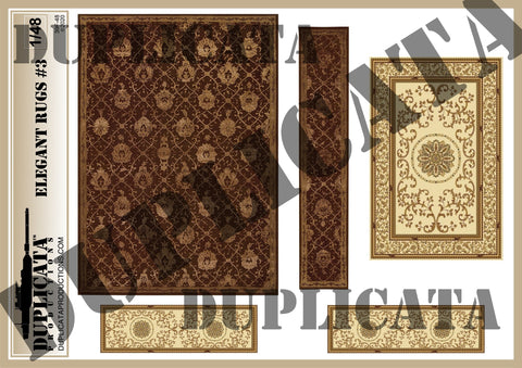 Elegant Rugs #3 - 1/48 Scale - Duplicata Productions