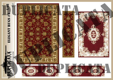 Elegant Rugs #4 - 1/48 Scale - Duplicata Productions