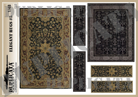 Elegant Rugs #5 - 1/48 Scale - Duplicata Productions