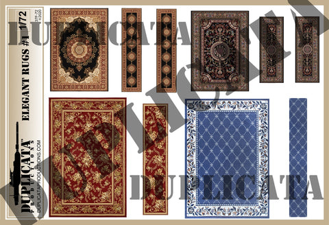 Elegant Rugs #1 - 1/72 Scale - Duplicata Productions
