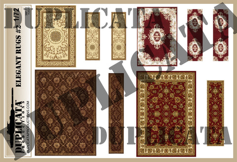 Elegant Rugs #2 - 1/72 Scale - Duplicata Productions