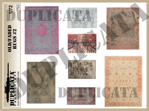 Old/Faded Rugs #2 - 1/72 Scale - Duplicata Productions
