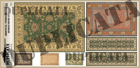 Oriental/Persian/Afghan Rugs #1 - 1/35 Scale - Duplicata Productions