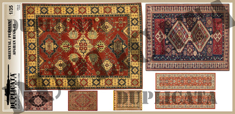 Oriental/Persian/Afghan Rugs #2 - 1/35 Scale - Duplicata Productions