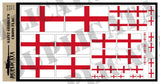 Saint George's Cross Flag - 1/72, 1/48, 1/35, 1/32 Scales - Duplicata Productions