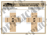 American Ration Supplement, Sundries Boxes, Vietnam War - 1/35 Scale (3 Sheets) - Duplicata Productions