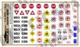 U.S. City Traffic Signs - 1/72 Scale - Duplicata Productions