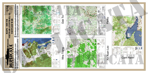 Maps - Vietnam War - South Vietnam (Central) #2 - 1/16 (120mm) Scale - Duplicata Productions