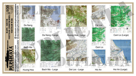 Maps - Vietnam War - South Vietnam (North/DMZ) #1 - 1/35 Scale - Duplicata Productions