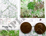 Maps - Vietnam War - South Vietnam (South/Mekong) #1 - 1/16 (120mm) Scale - Duplicata Productions