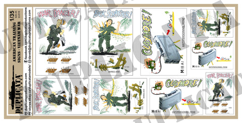 American Training Signs - Vietnam War - 1/35 Scale - Duplicata Productions