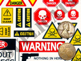 Warning Signs - 1/35 Scale (2 Sheets) - Duplicata Productions