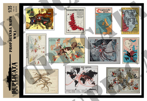 WW1 Propaganda Maps - 1/35 Scale - Duplicata Productions