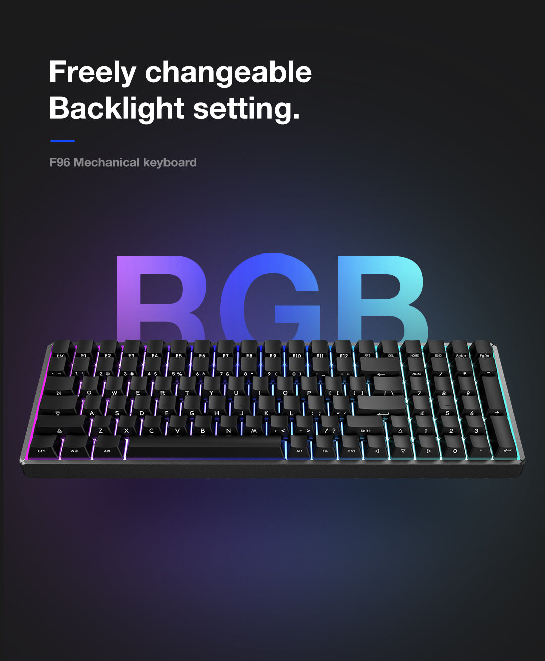 Best 96% Mechanical Keyboard - F96-Knight Wireless Keyboard | IQUNIX