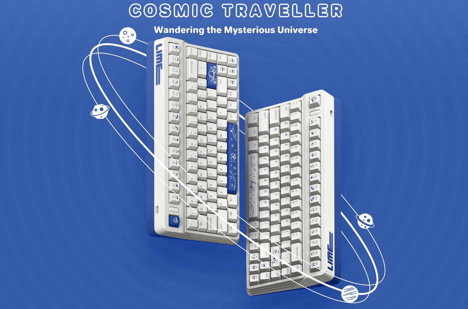 L80 SPACE THEMED Mechanical Keyboard L80 Comis Traveller