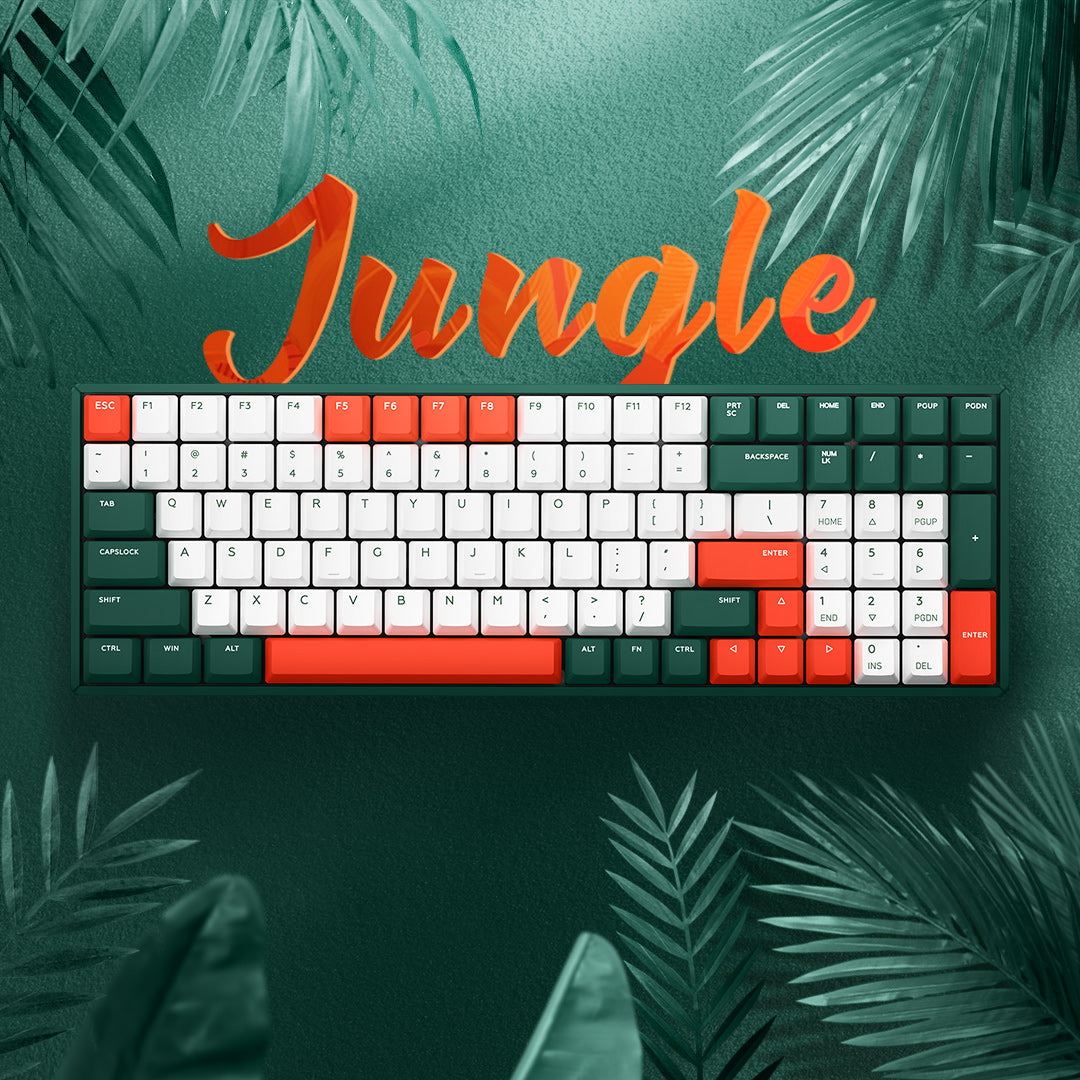 F96 Jungle Mystery Wireless Mechanical Keyboard