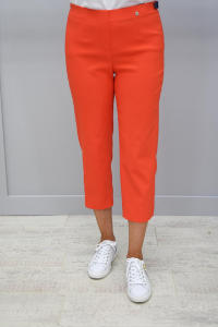 Robell Marie Orange Cropped Trousers