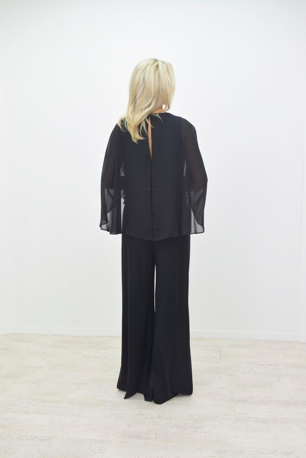 Frank Lyman Black Jumpsuit With Diamante Belt - 199186