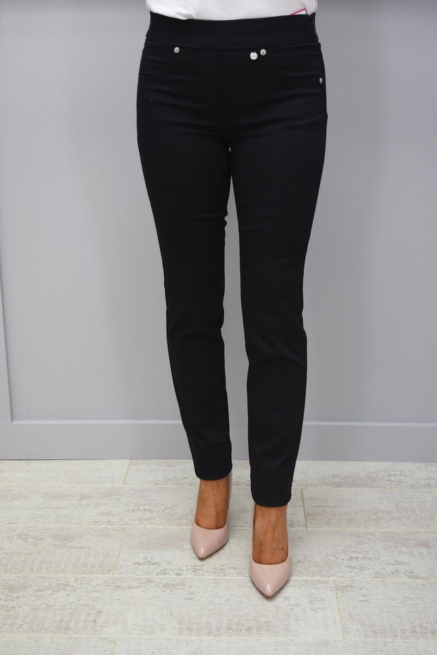 Robell Rose Black Smart Shape Jean - 52461 54808 90