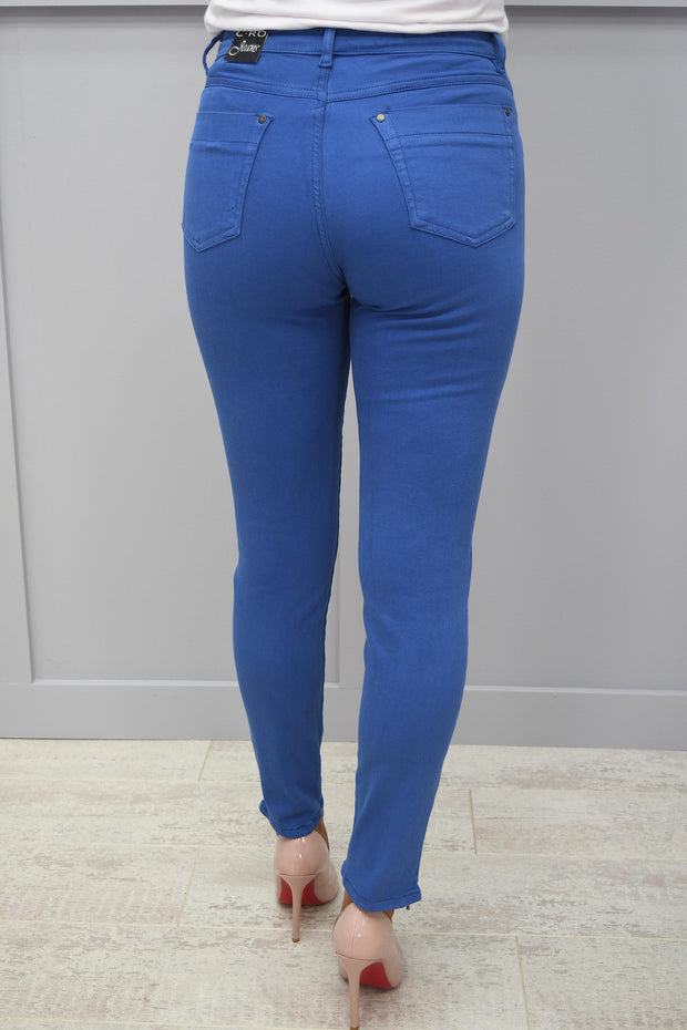 CRO Magic Fit Skinny Cobalt Blue 7/8 Length With Side Zip - 5226 525 654