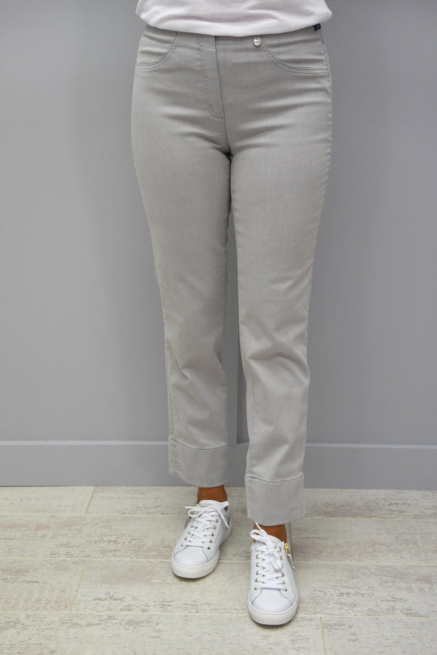 Robell Bella 7/8 Silver Grey Denim Jeans - 51628 5448 91