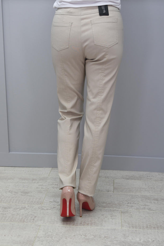 Robell Full Length Bella Beige Trousers - 51559 5499 14
