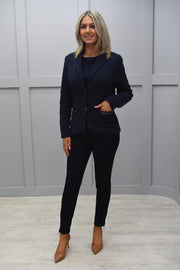 Barbara Lebek Navy Jacket With Embellished Sleeve Detail - 16320002 87