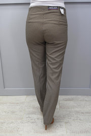 Zerres Beige, Brown & Black Checked Trouser - 4649 986