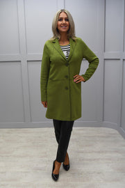 Bianca Green Suedette Long Jacket - 54001 563