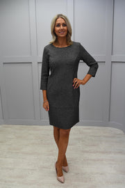 Betty Barclay Grey Shimmer Dress With Sleeve - 1110 1987 9812