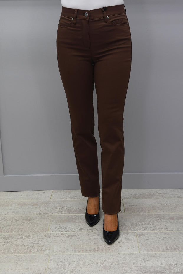 Toni Be Loved High Rise Slim Leg Dark Tan Jeans - 1125 761