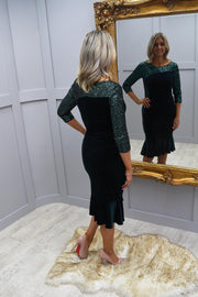 Tia Green Dress With Sequins - 78292 7401 80