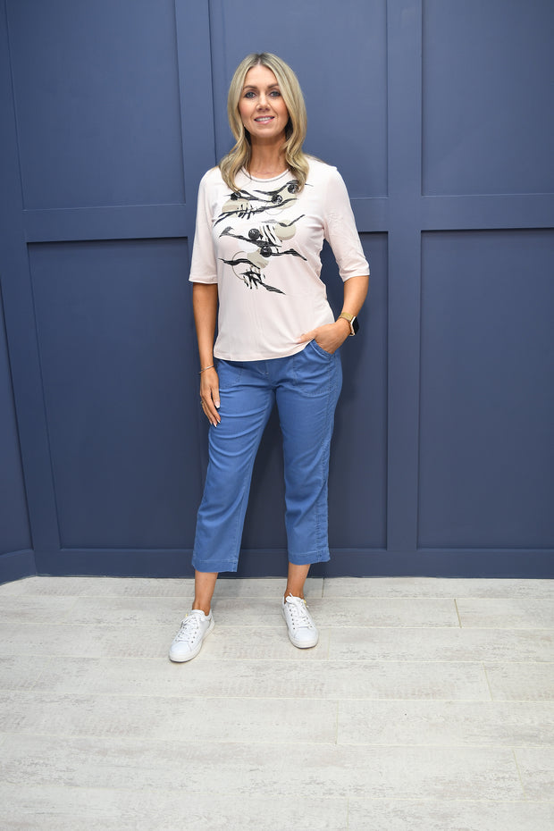 Couture Club Cream Dress With Blush Pink Sheer Coat - 4G291ENJ0050140