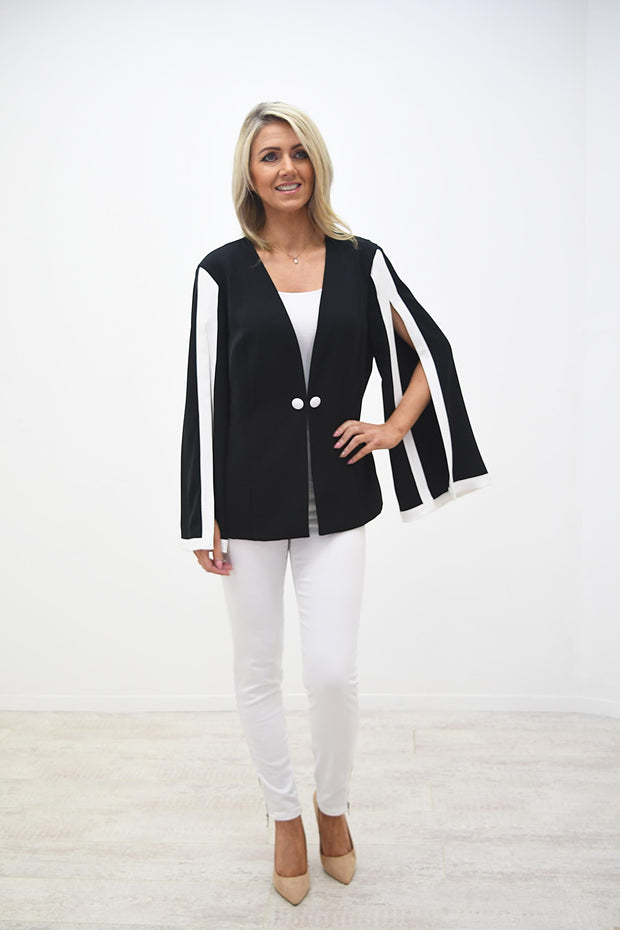 Frank Lyman Black Jacket With White Detail - 208281