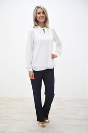 Avalon Off White Lined Blouse - A7101L