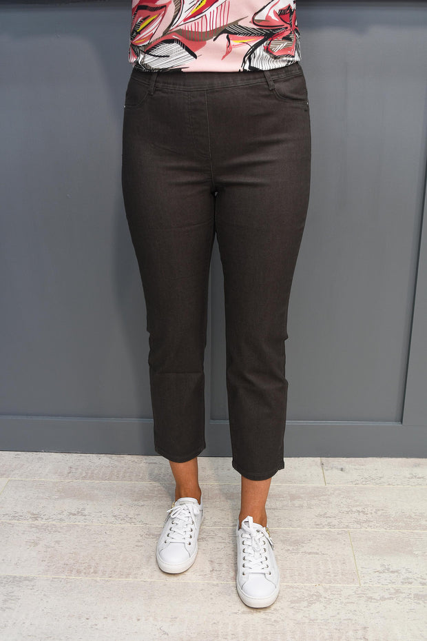 Tia Navy Palatso Wide Legged Trouser with elastic waist  - 71179 7093 6903