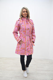 Etage Pink & Orange Aztec Print Rain Coat - 1594 1800 2727