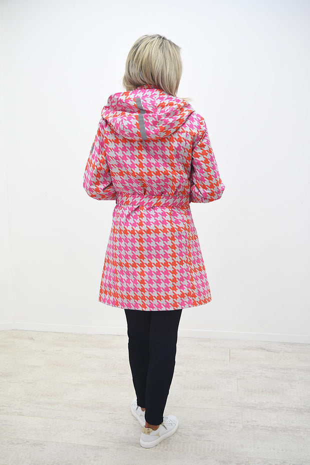 Etage Pink & Orange Print Aztec Print Rain Coat - 1594 1800 2727