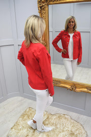 Robell Red Happy Jacket - 57609 5499 40